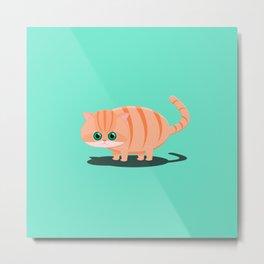 Fatty Cat Metal Print