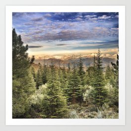 """Wildderness"". Adventure at the mountains... Art Print"
