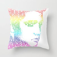 elvis Throw Pillows featuring Elvis by ron ashkenazi