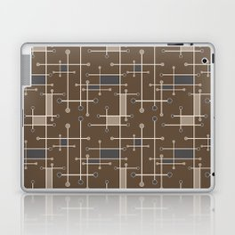 Intersecting Lines in Brown, Tan and Gray Laptop & iPad Skin