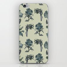 Botanical Florals | Vintage Blue iPhone Skin