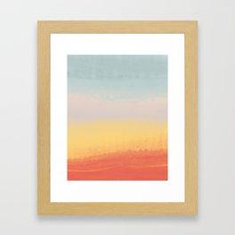 Ceramic Sunset // Multi Color Speckled Drip Summer Beach California Surf Vibes Wall Hanging Design Framed Art Print