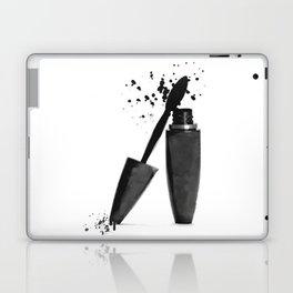 Black mascara fashion illustration Laptop & iPad Skin