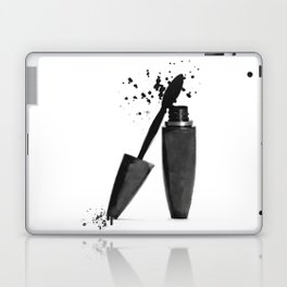 Black mascara fashion illustration Laptop & iPad Skin