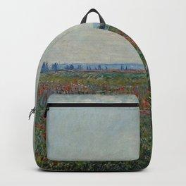 Claude Monet - Champ De Coquelicots Backpack
