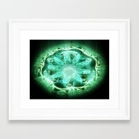 flower of life Framed Art Prints featuring Flower life by Michal Dunaj / Fractal Store