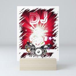 Dj Music Lover Music Player Sound Cool Funny Gift Mini Art Print