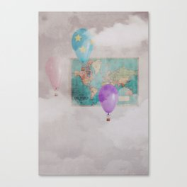 Travelling The World Canvas Print