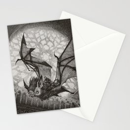 The Bat Rider  Stationery Cards