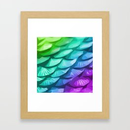 Mermaid Fish Tail Framed Art Print