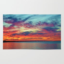 Sunset on Lake St. Clair in Belle River, Ontario Rug