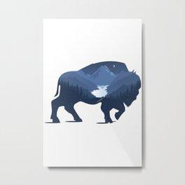 Bison Dream Metal Print