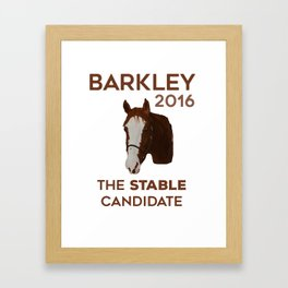 The Stable Candidate Framed Art Print
