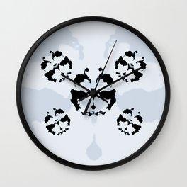 Rorschach inkblot Wall Clock