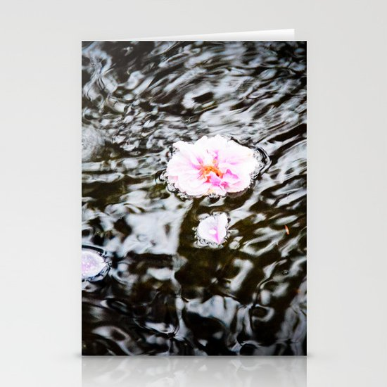 Cherry Blossoms on the Water Stationery Cards