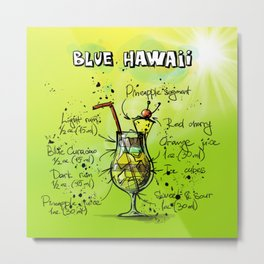 Blue Hawaii Metal Print