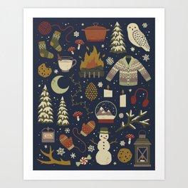 Winter Nights Kunstdrucke