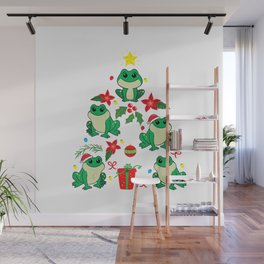 Frog Christmas Ornament Tree Funny Xmas Gift T-Shirt Wall Mural