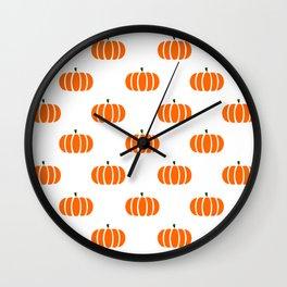 Pumpkin Patch Pattern Wall Clock