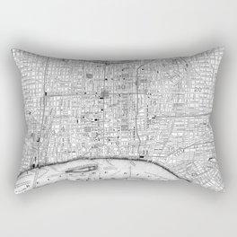 Vintage Map of Philadelphia Pennsylvania (1860) BW Rectangular Pillow