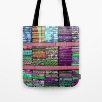 fabric Tote Bags featuring FABRIC by Louisa Rogers