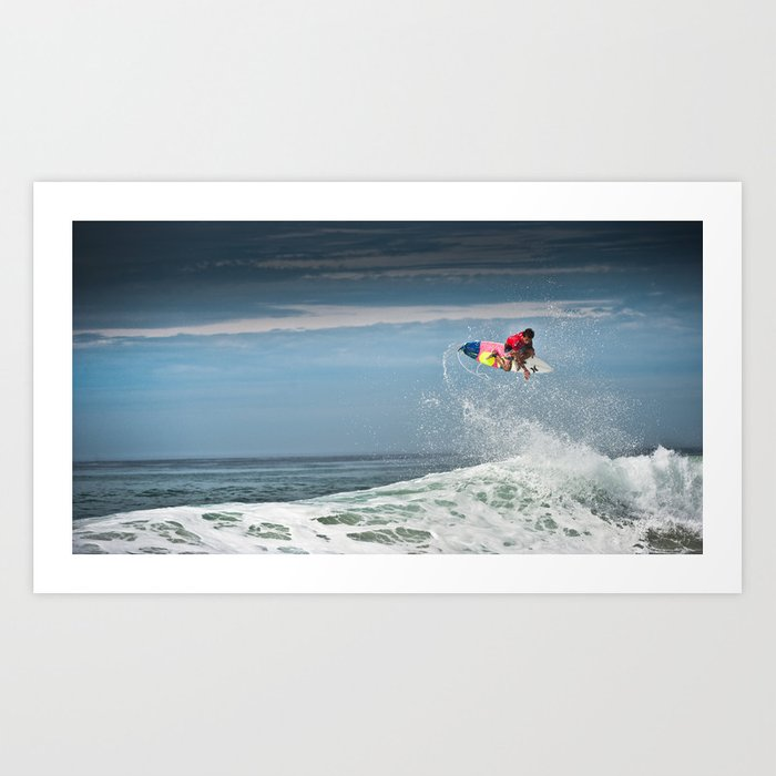 Julian Wilson at the World Tour of Surf in France, 2013. Art Print
