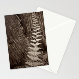 Single Copper Fern Stationery Cards