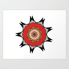 Japanese inspired mandala Art Print