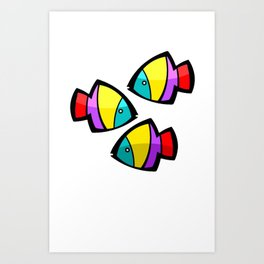 Color Fisch. Art Print
