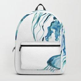 Watercolor Aqua Jellyfish Backpack