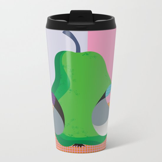 Bitten Pear Metal Travel Mug