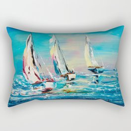 YACHTS ON THE WIND Rectangular Pillow