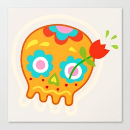 Cute Sugar Skull Day of the Dead Canvas Print
