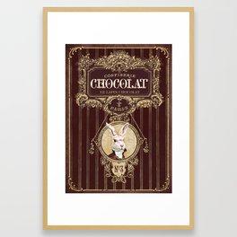 Chocolate rabbit Framed Art Print