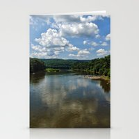 river song Stationery Cards featuring Song of the Delaware River by PamelasDreams