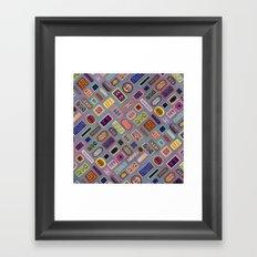 Multi-color Melody Framed Art Print