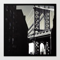 brooklyn Canvas Prints featuring brooklyn by trebam