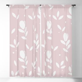 Let it bloom with tulips, floral pattern design Blackout Curtain