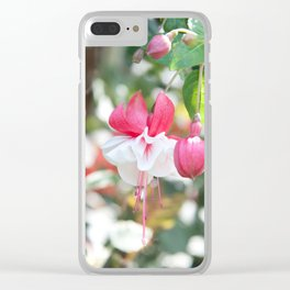 Fuchsia Blossom #1 #pink #white #art #society6 Clear iPhone Case