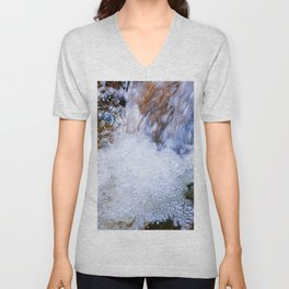 Running Water Of A Forest Spring Unisex V-Neck