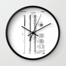 patent art Barret Billiard cue 1929 Wall Clock