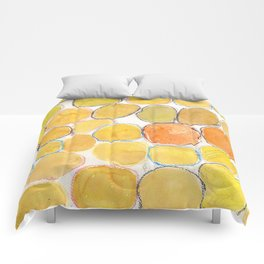 Cheerful orange Gathering Comforters