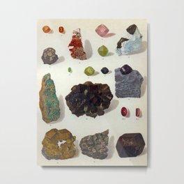 The Mineral Kingdom by Dr. Reinhard Brauns, 1903. Germany. Beautiful Gems Mineral Jewels Metal Print