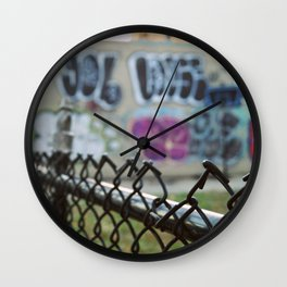 Graffiti and the Sunset, New York City - Flushing, Queens Wall Clock