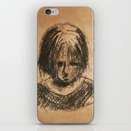 sad girl iPhone Skin