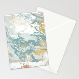 Marble - Grey, Blue, & White Stationery Cards