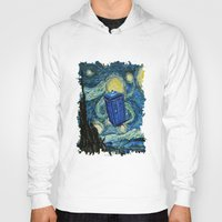 marauders Hoodies featuring Tardis Dr. Who Starry Night by neutrone