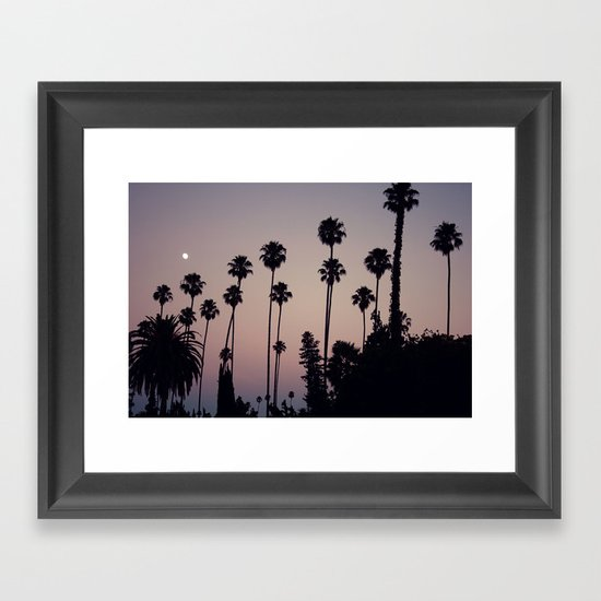 Hollywood Forever Cemetery Sunset  Framed Art Print