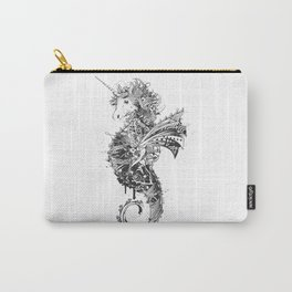 ornate drawing of a unicorn seahorse Carry-All Pouch