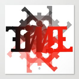 "Ambigram ""TIME"" spiral Canvas Print"